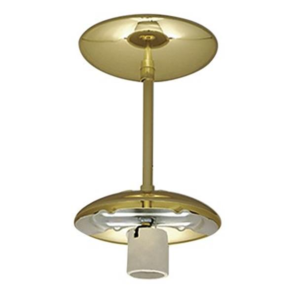 Galaxy Polished Brass Semi Flush Ceiling Light