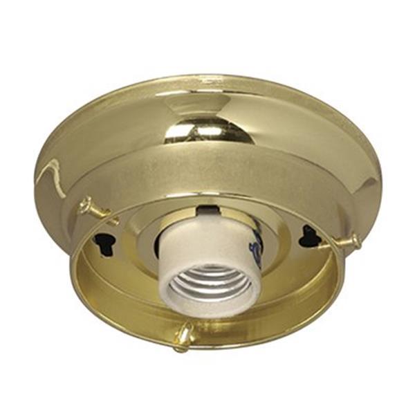 Galaxy Polished Brass Indoor Holder Flush Mount Ceiling Light