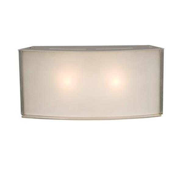 Galaxy 5-in x 10.50-in Silver 2-Light Wall Sconce