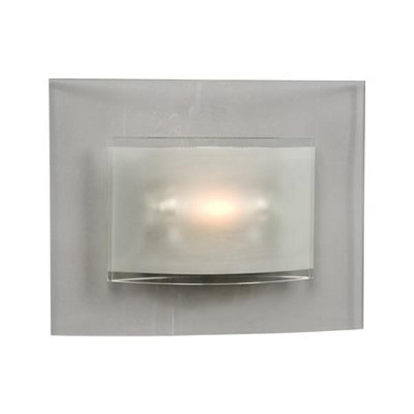 Galaxy 9.88-in x 12.38-in Silver Wall Sconce