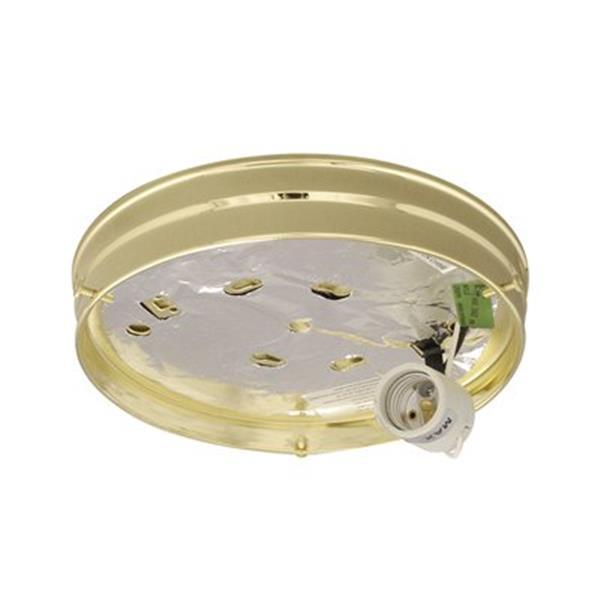Galaxy Polished Brass Utility Holder Flush Mount Ceiling Light