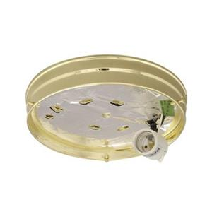 Galaxy Polished Brass Utility Holder Flush Mount Ceiling Light