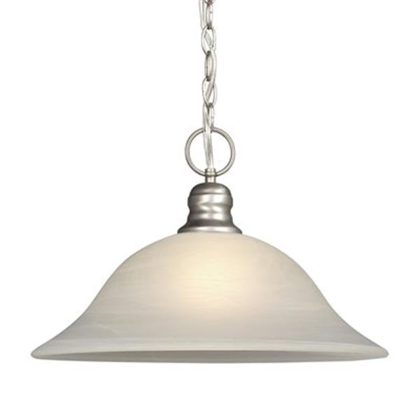 Galaxy Pewter Chain Hung Large Pendant Light