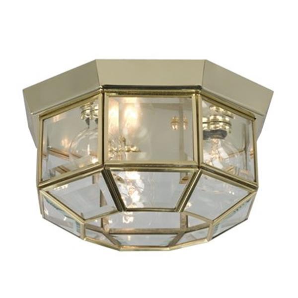 Galaxy 3-Light Polished Brass Flush Mount Ceiling Light