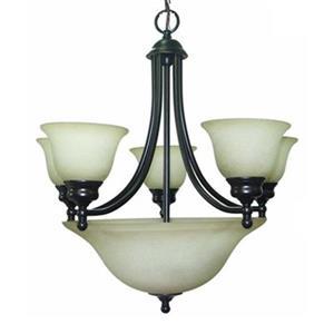 Amlite Lighting Del Mar  Weathered Bronze 8-Light Chandelier