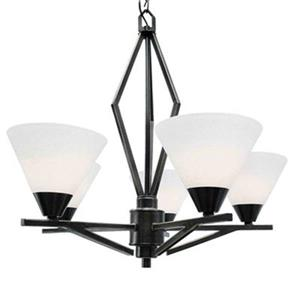 Amlite Lighting Meridian Weathered Bronze 5-Light Chandelier