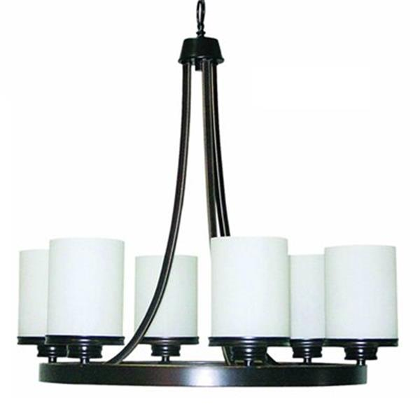 Amlite Lighting Hanover Weathered Bronze 6-Light Chandelier