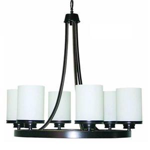 Amlite Lighting Hanover Weathered Bronze 6-Light Chandelier