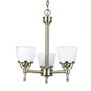 Amlite Lighting Hampton Vintage Brass 3-Light Chandelier
