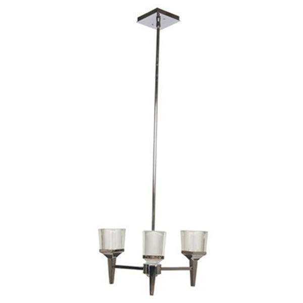 Amlite Lighting Park Avenue Chrome 3-Light Chandelier