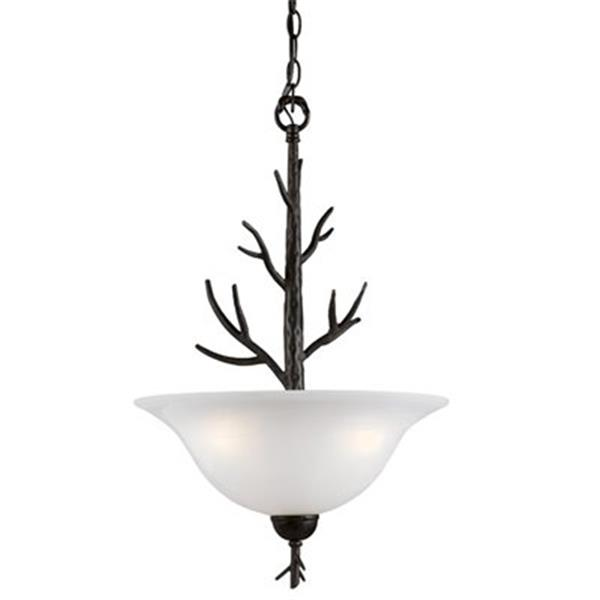 Amlite Lighting 3-Light Vermont Forged iron Large Bowl Pendant Light