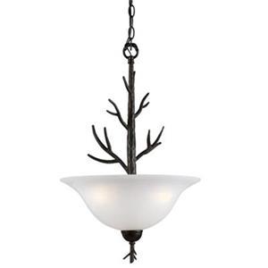 Amlite Lighting 3-Light Vermont Forged iron Large Bowl Pendant Light