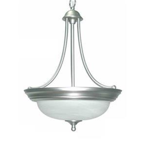 Amlite Lighting 3-Light Del Mar Brushed Nickel Large Pendant Light