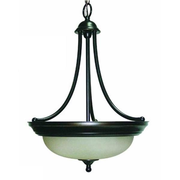 Amlite Lighting 3-Light Del Mar Weathered Bronze Large Pendant Light