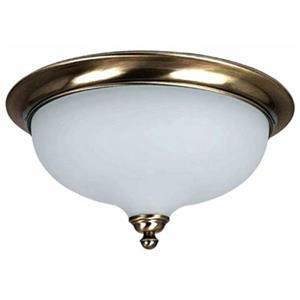 Amlite Lighting 2-Light Vintage Brass Hampton Flush Mount Ceiling Light