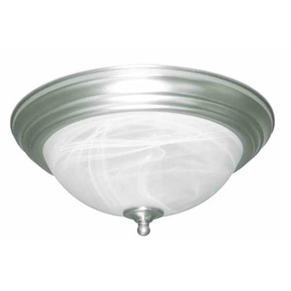 Amlite Lighting 2-Light Brushed Nickel Del Mar Flush Mount Ceiling Light