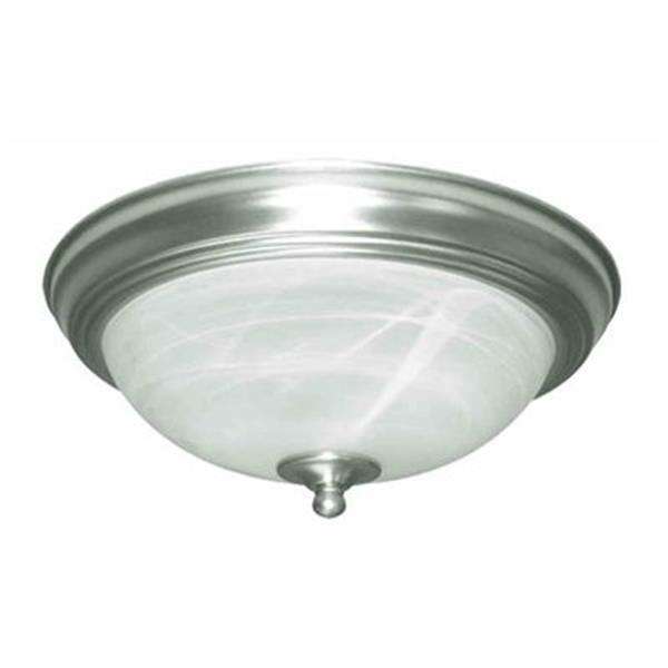 Amlite Lighting 2-Light Brushed Nickel Del Mar Flush Mount Ceiling Light