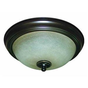 Amlite Lighting 2-Light Weathered Bronze Del Mar Flush Mount Ceiling Light