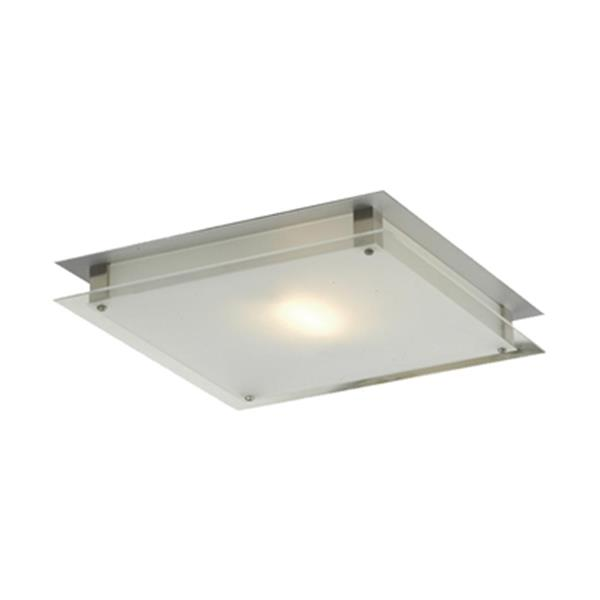 Amlite Lighting 2-Light Brushed Nickel Broadway Flush Mount Ceiling Light