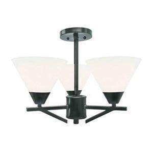 Amlite Lighting Meridian 3-Light Weathered Bronze Semi Flush Ceiling Light