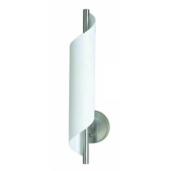 Amlite Lighting Aquarius 21-in x 4.50-in Brushed Nickel Wall Sconce