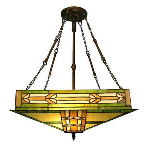 Warehouse of Tiffany Style Mission 2-Light Large Pendant Light