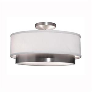 Steven & Chris by Artcraft Scandia 2-Light Brushed Nickel Semi Flush Ceiling Light