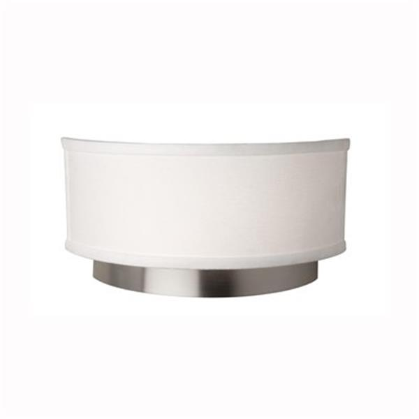 Steven & Chris by Artcraft Lighting 6-in x 12-in Brushed Nickel 2-Light Scandia Wall Sconce