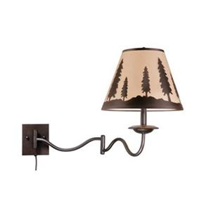 Cascadia Lighting Yosemite 18-in x 12-in Burnished Bronze Swing Arm Wall Sconce