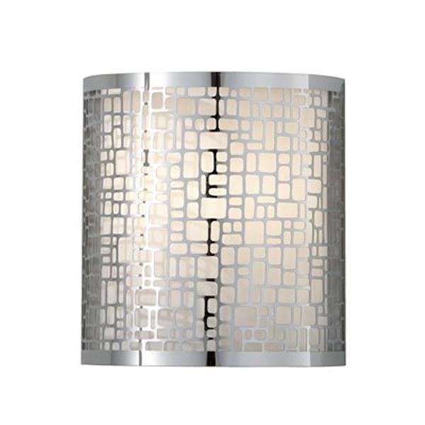 Feiss Joplin 9-in x 8-in Chrome Wall Sconce