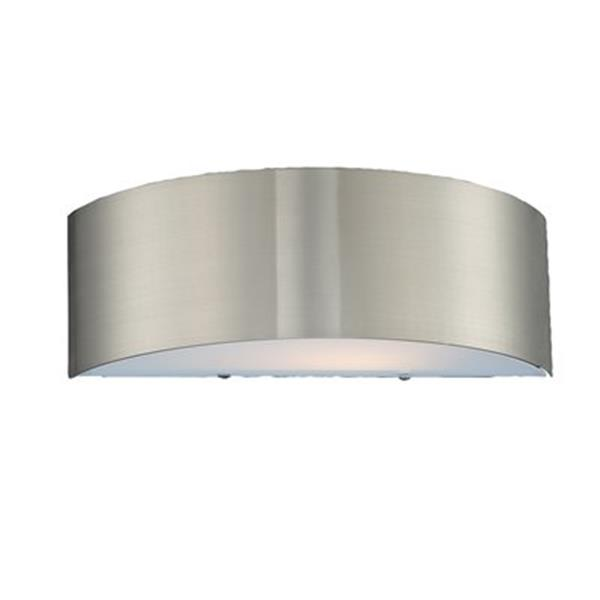 Eurofase 4.50-in x 14-in Satin Nickel Dervish Wall Sconce