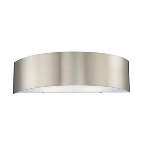Eurofase 5.50-in x 20-in Satin Nickel 2-Light Dervish Wall Sconce