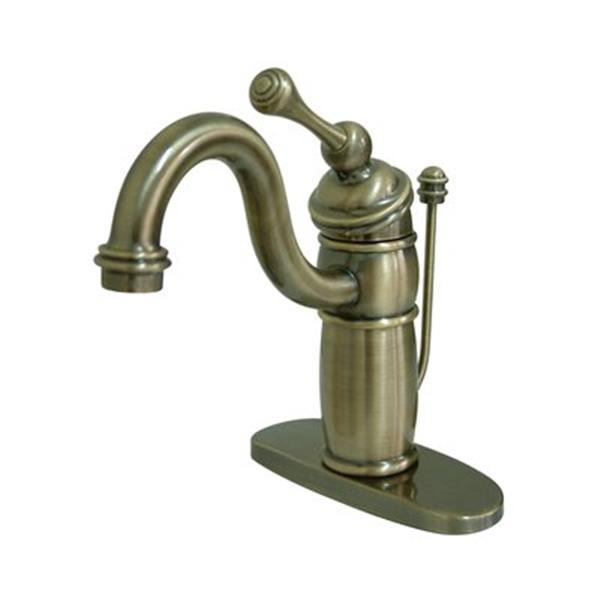 Elements of Design Baltimore 7-in Vintage Brass Bathroom Sink Faucet