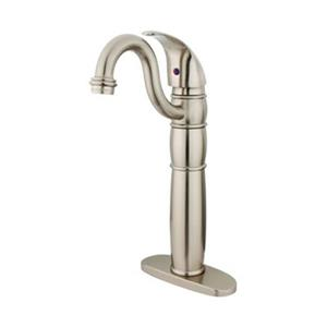 Elements of Design Baltimore 14.25-in Satin Nickel Single Hole Vessel Faucet