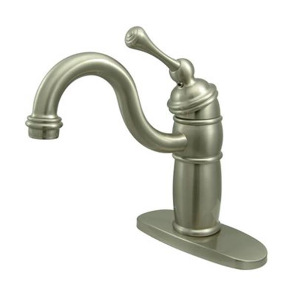 Elements of Design New Orleans Satin Nickel Without Pop-Up Rod Bar Faucet