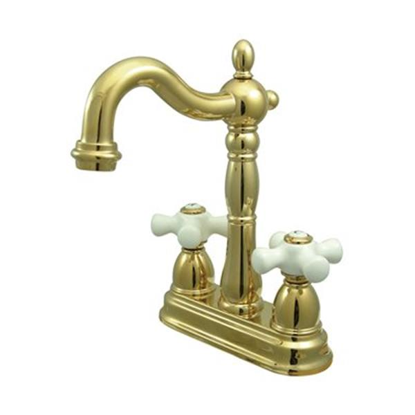 Elements of Design New Orleans Polished Brass Without Pop-Up Rod Bar Faucet
