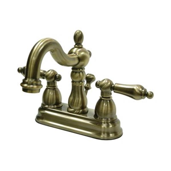 Elements of Design Heritage 4.75-in Vintage Brass Centerset Faucet