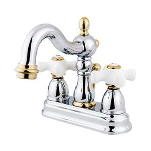 Elements of Design New Orleans 6.31-in Chrome/Polished Brass Centerset Faucet