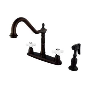 Elements of Design New Orleans Oil-Rubbed Bronze Kitchen Faucet With Sprayer