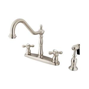 Elements of Design New Orleans Adjustable Satin Nickel Kitchen Faucet With Sprayer