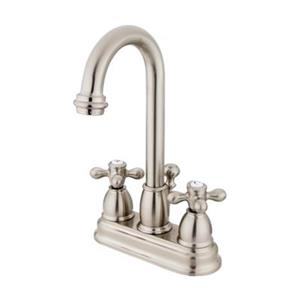 Elements of Design Chicago 10-in Satin Nickel Deck Centerset Faucet