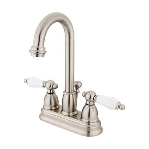 Elements of Design Chicago 10-in Satin Nickel Deck Centerset Faucet