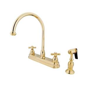 Elements of Design Chicago Polished Brass Kitchen Faucet With Sprayer
