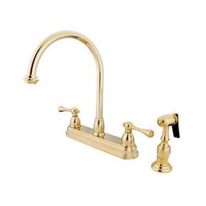Elements of Design St. Louis Buckingham Polished Brass Kitchen Faucet