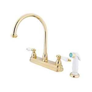 Elements of Design Chicago Polished Brass Kitchen Faucet