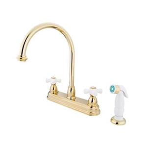 Elements of Design Chicago Brass Kitchen Faucet With Sprayer