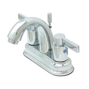 Elements of Design NuvoFusion 5-in Polished Chrome  High Rise Spout Centerset Faucet