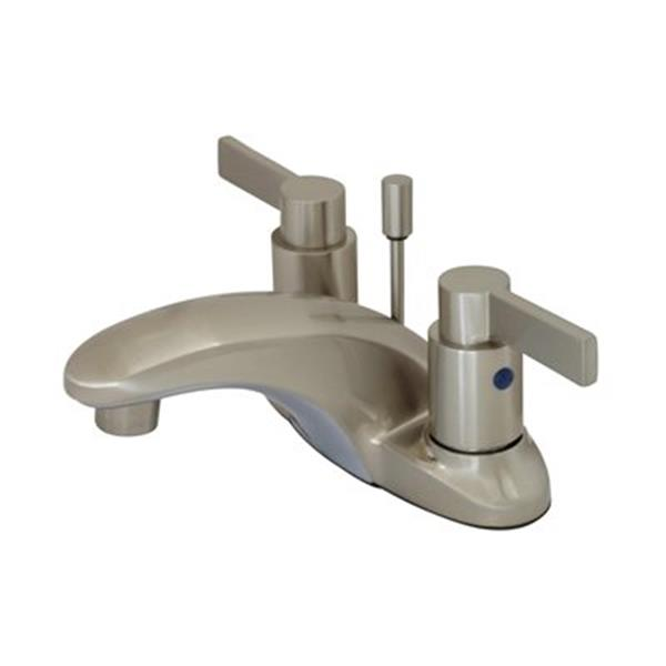 Elements of Design NuvoFusion 2.75-in Satin Nickel Centerset Faucet