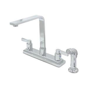 Elements of Design NuvoFusion Euro High Rise Spout Satin Chrome Kitchen Faucet