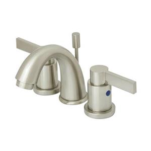 Elements of Design NuvoFusion 4-in Satin Nickel Goose Neck Spout Mini Widespread Faucet